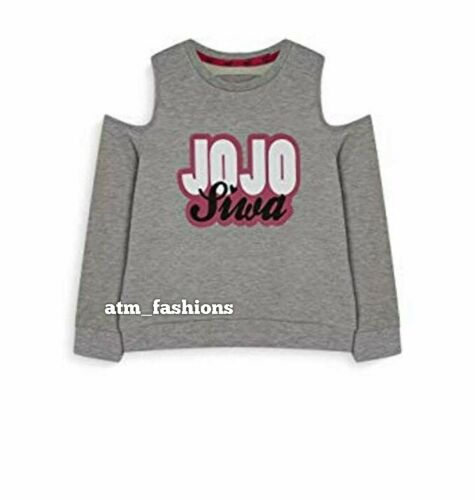 Primark Girls Nickelodeon JoJo Siwa Cold Shoulder Sweatshirt Jumper T-Shirt
