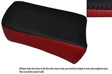 BLACK & DARK RED CUSTOM FITS SUZUKI LS 650 SAVAGE REAR LEATHER SEAT COVER