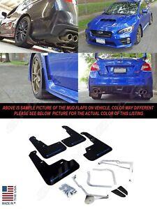Rally Armor 11-14 Subaru Impreza STI /& WRX Sedan Black UR Mud Flaps BLUE Logo