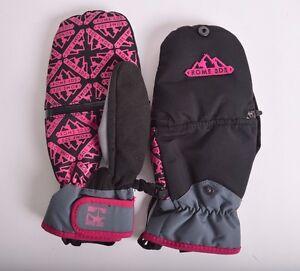 2016-NWT-WOMENS-ROME-GRIT-SNOWBOARD-MITTENS-M-black-hot-pink-waterproof