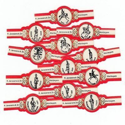 12 cigar bands Principal Nobrandname Generals 1940 1945 red iss in 1971