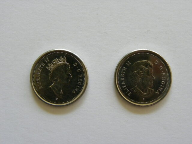 2 x different 10 cents - Dime - Canadian coin - Canada - 2003 - 2 coins