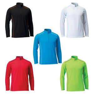 a5f30328eb Mens Women Coolon Sports Polo Zip up Collar T-shirt Top Tee Dry Fit ...