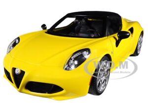 ALFA ROMEO 4C SPIDER GIALLO PROTOTIPO YELLOW 1/18 MODEL CAR BY AUTOART 70143