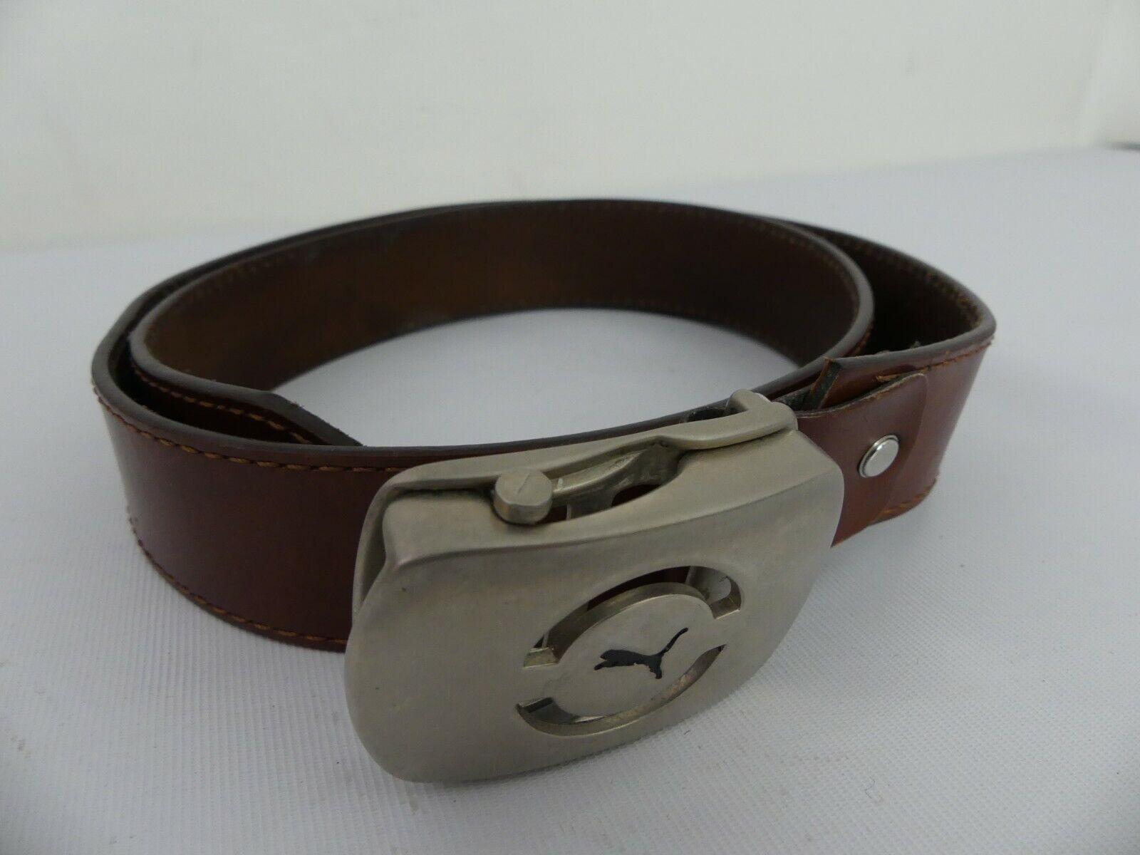 (ref288CK) cinturón para hombre Puma Cinturón De Cuero Marrón