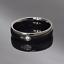 Anello-in-acciaio-Uomo-Donna-Fedina-Fidanzamento-Fascia-Unisex-incisione-nero miniatura 4