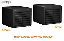 € 6963+IVA SYNOLOGY NAS 192TB (24x 8TB HDD) DS2415+ / DX1215 Infiniband 24 Bays