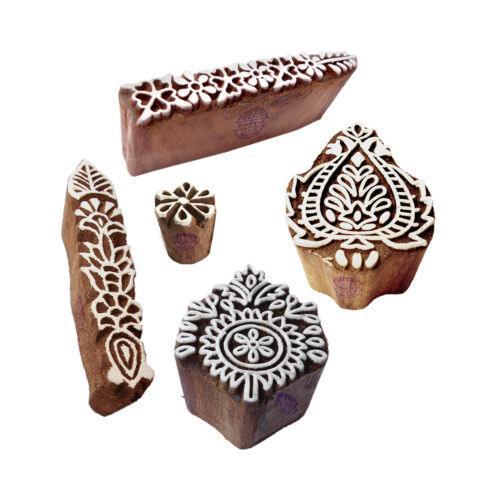 Exquisite DIY Wooden Stamps for Printing for Fabric Paper Pottery Block Printing