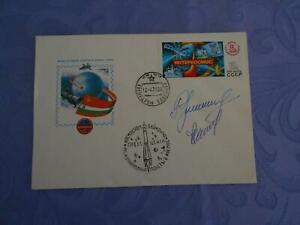 Sojus 33 Landung original signiert Iwanov,Rukawischnikov Space