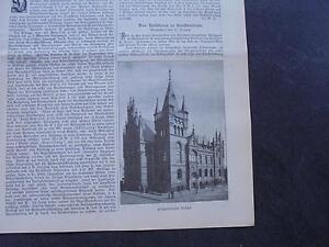 1899 Baugewerkszeitung 38/mairie Geestemünde-ung 38 / Rathaus Geestemünde Fr-fr Afficher Le Titre D'origine Chaud Et Coupe-Vent