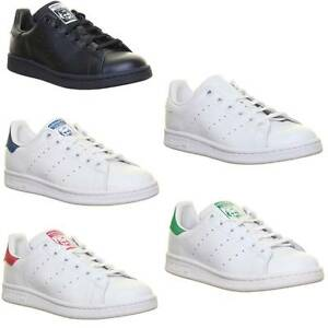 ... Adidas-Stan-Smith-Junior-Cuir-Baskets-Taille-UK-