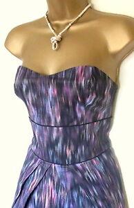 Jane Norman Stretch Kleid Blau Pink Tye Dye Gr 38 - 40 + Kette ... e9f37d7aa4