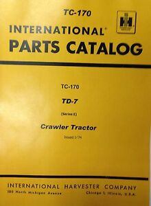 International IH Dresser TD7E Crawler Tractor Dozer parts manual  -9500 & below