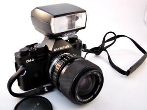 Olympus-OM-2-SP-Black-with-Olympus-Zoom-Lens-amp-Flash