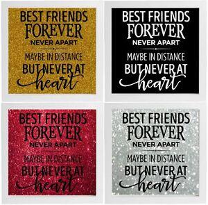 Best Friends Forever Decal Frame Wall Vinyl Glass Block Ebay