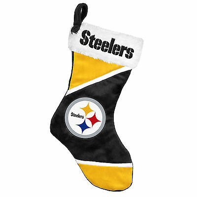 "Pittsburgh Steelers Holiday 17"" Christmas Stocking NFL! Team Logo New for 2014"