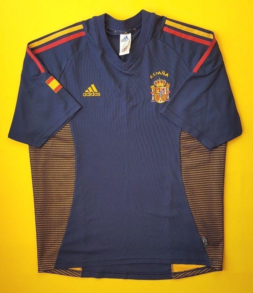 d7650dd461f 4.8 5 Spain jersey large 2002 third shirt Adidas soccer football ig93