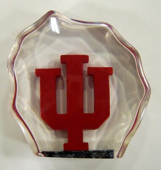 Indiana University Hoosiers Lucite Paper Weight by Collectors Guild