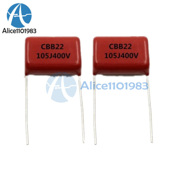 10PCS CBB22 Capacitor 400V 105J 1uF 400V//105J Pitch 20mm 22*14*7MM