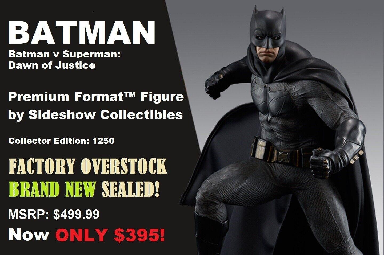 Sideshow Batman V súperman Premium Format  Sellado   100 por debajo de venta por menor original