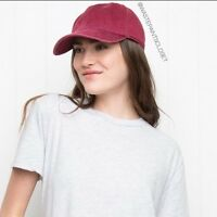 Brandy Melville Red Baseball Cap Hat Katherine Adjustable