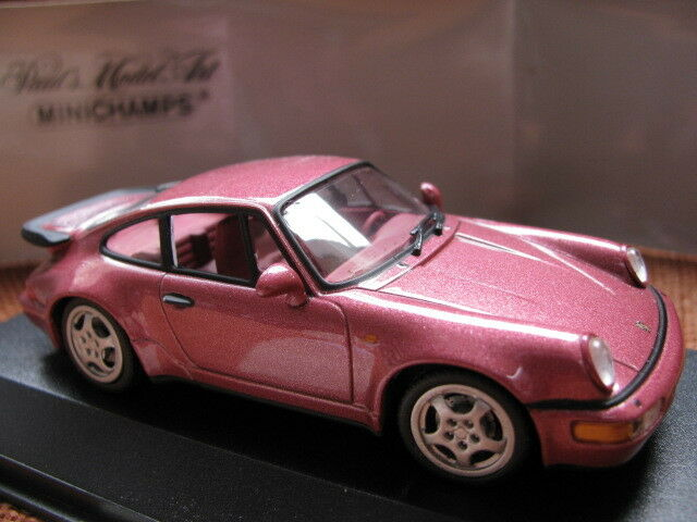 1 43 Minichamps Porsche 911 turbo (1990) diecast red