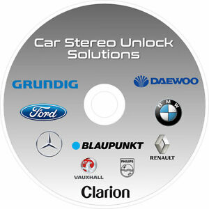 CAR AUDIO/RADIO STEREO CODE UNLOCK SOLUTIONS CD FORD BMW ...