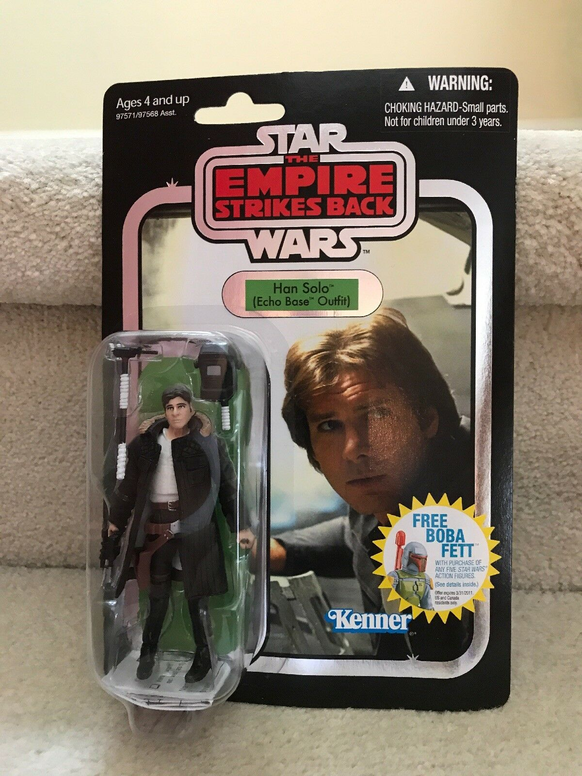 Hasbro Star Wars VC 03 Han Solo Echo Base Outfit FOIL Vintage Collection
