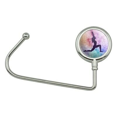 619a2a0632c2 High Lunge Crescent Variation Yoga Pose Purse Bag Hanger Holder Hook | eBay