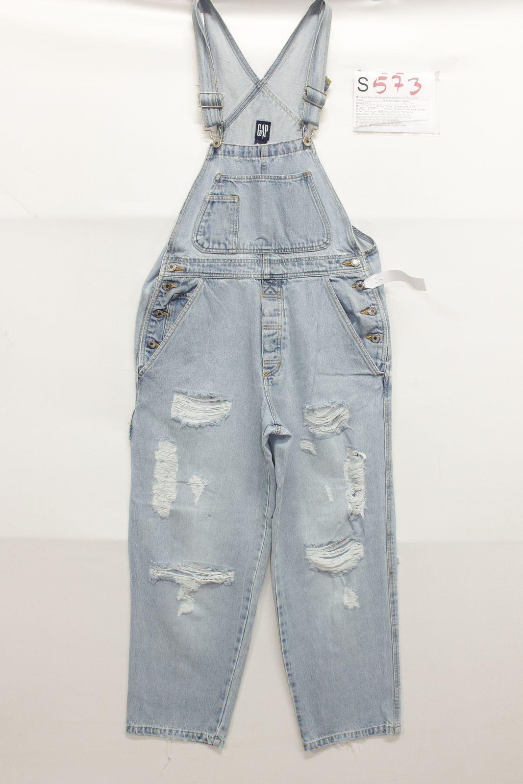 Salopette GAP (Cod.S573) tg S Jeans usato vintage Original Work Pant