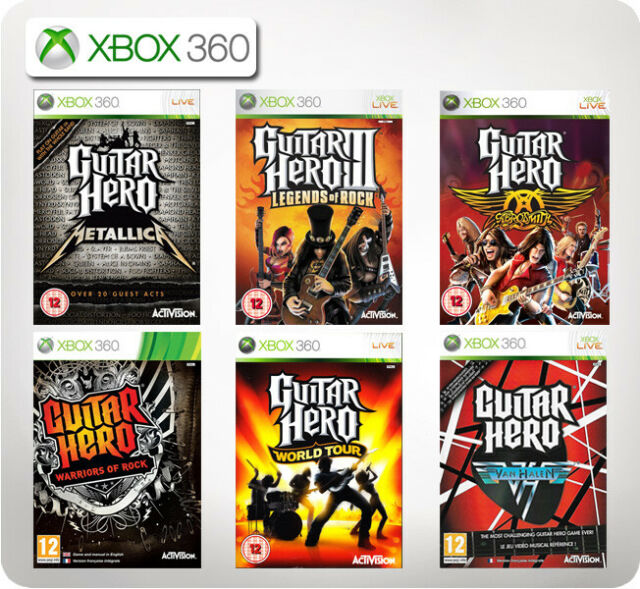 GUITAR HERO METALLICA/AEROSMITH/Legends of Rock/VAN HALEN XBox 360 * Multi Liste *
