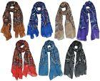 Soft Bandana Paisley Print Pattern Large Oblong scarf scarves