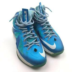 a3a6ac44e706 Image is loading Nike-Lebron-10-Blue-Diamond-Windchill-Mens-Basketball-
