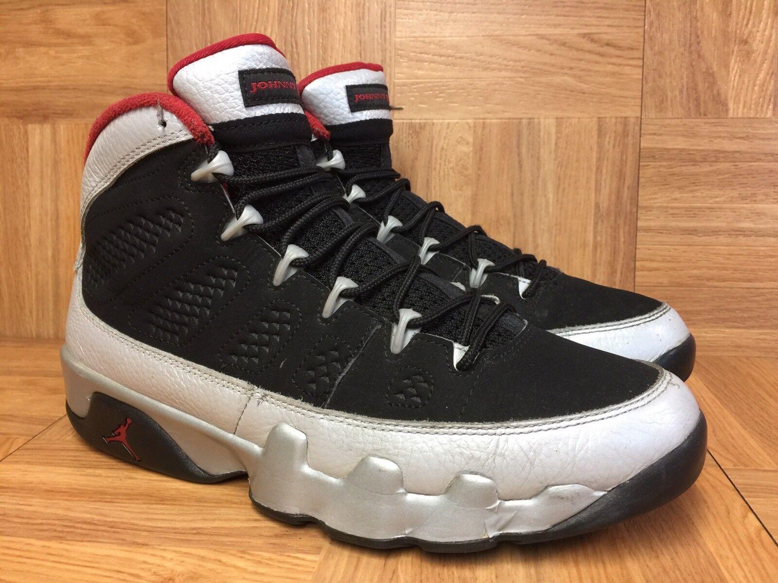 RARE RARE RARE Nike Air Jordan 9 IX Retro Johnny Kilroy Black Platinum Red 8 302370-012 bfc1c4