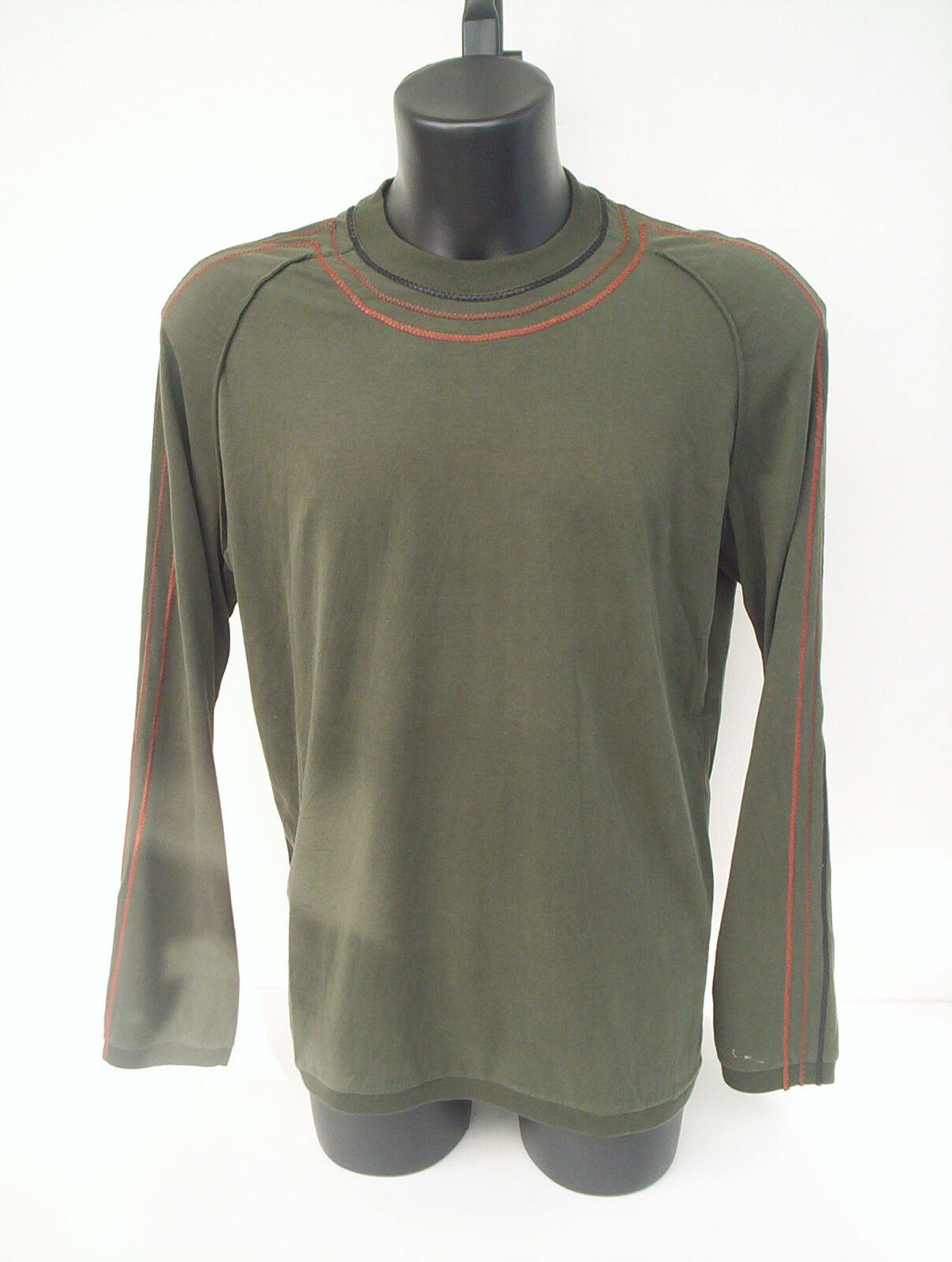 T-hemd Roberto Cavalli,Farbe Grün bottiglia con inserti in pelle,tg