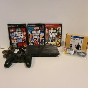 Sony-Playstation-PS2-Slim-System-Console-Bundle-SCPH-77001-1-controller-3-games