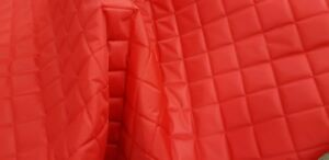QUILTED-FABRIC-Waterproof-UK-Manufactured-Outdoor-Jacket-Upholstery-Dress-RED