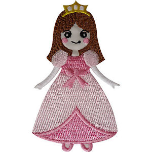 Princess Patch Embroidered Badge Iron Sew On T Shirt Jeans Jacket Bag Applique