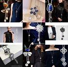 Fashion Charm Bib Statement Chunky Choker Chain Crystal Pendant Necklace