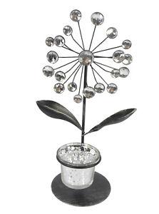 Teelichthalter-Kerzenstaender-Kerzenhalter-Kerze-Tisch-Tischteelichthalter-Blume