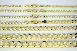 14K-SOLID-GOLD-CUBAN-LINK-CHAIN-NECKLACE-BRACELET-FOR-MEN-WOMEN-2-11-5mm-7-30-034