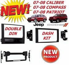 07 08 JEEP DODGE COMPASS CALIBER PATRIOT DOUBLE DIN  CAR STEREO INSTALLATION KIT