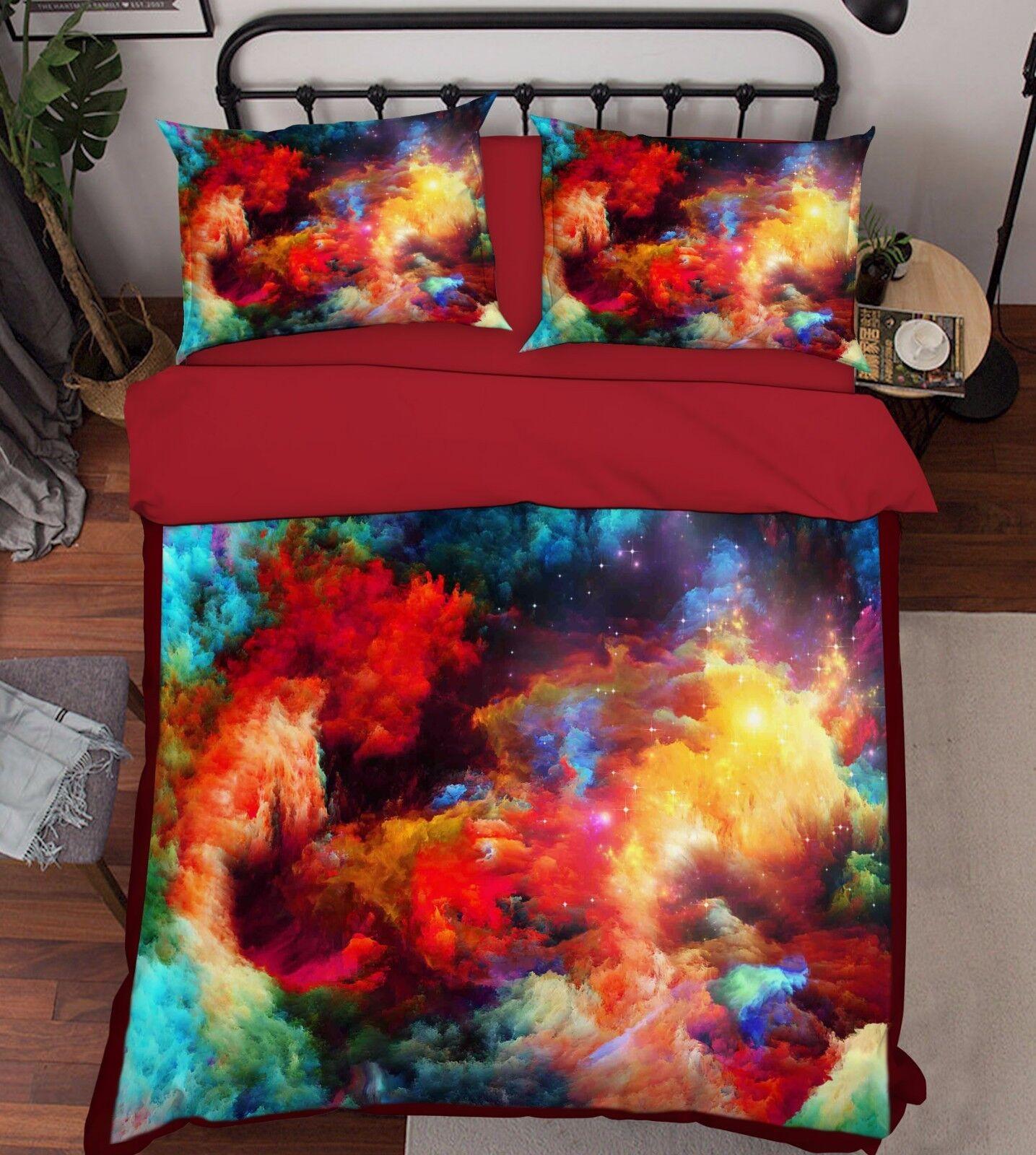 3D Gemalt 479 Bett Kissenbezüge steppen Duvet Decken Set Single DE Sunmmer