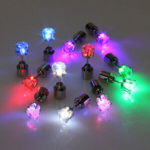 1pc-Bling-LED-LIGHT-Earrings-Party-Accessories-Glow-Up-Ear-Stud-Punk-Rock-Hot