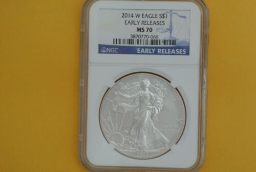 2014-W Burnished $1 American Silver Eagle NGC MS70 Early Releases