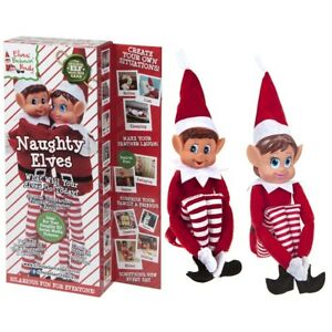 Boy Christmas Toy.Details About 12 Pack Of 2 Sitting Elf Girl Boy Christmas Naughty Toys Shelf Decoration