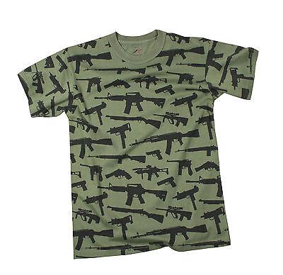 66360 Rothco Vintage 'Guns' T-Shirt - Olive Drab