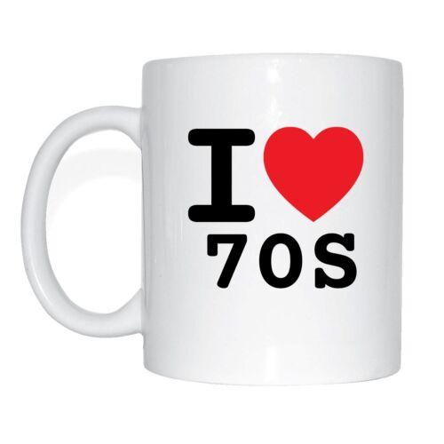 I LOVE 70s tasse de café tasse