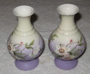 Antico/Vintage Austriaco Cina Dipinto a Mano Vasi - Karlsbad Porcellana Fabbrica