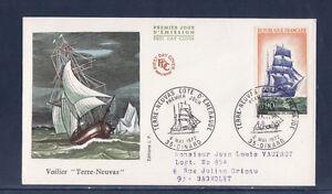 enveloppe-1er-jour-voilier-navire-bateau-terre-neuvas-Dinard-voyagee-1972